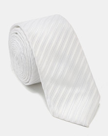 Joy Collectables Textured Tie White