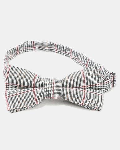Joy Collectables Check Tie Red & Grey