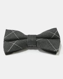 Joy Collectables Square Print Bow Tie Grey