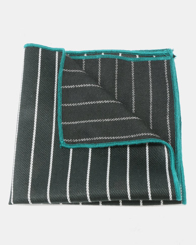 Joy Collectables Stripe Pocket Square Black
