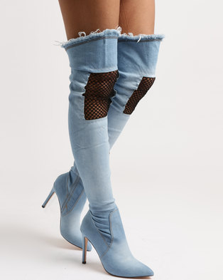 4ef3540aa08 Dolce Vita Harlem OTK Boots Light Blue