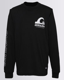 Quiksilver Boys International Long Sleeve T-Shirts Black