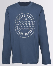 Quiksilver Boys Punch Wave T-Shirt Teal