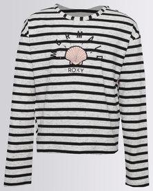 Roxy Girls Heart And Soul Top Cream/Black