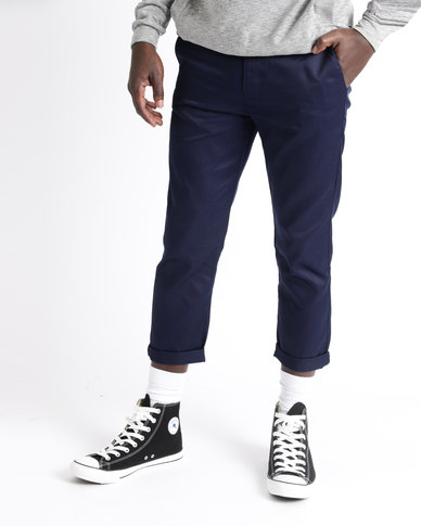 Resist Cropped Chinos Navy