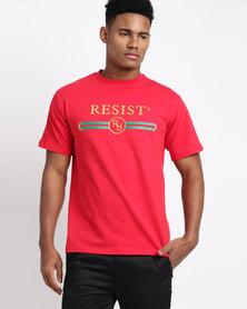 Resist Printed T-Shirt Red