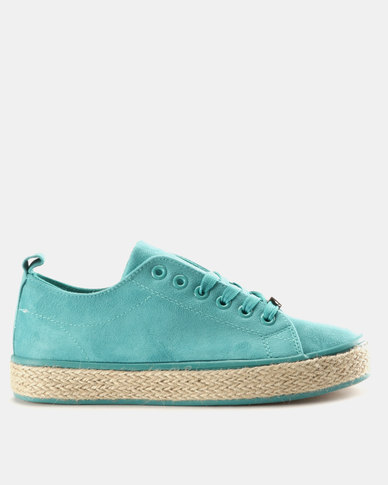 KG Ibiza Lace Up Sneakers Teal  10abb1228fd4