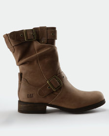 Caterpillar Midi Boots Brown