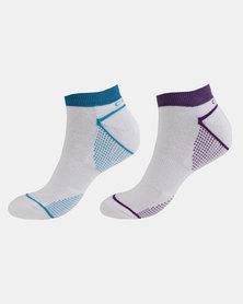 2 Pack Print Sock Multi