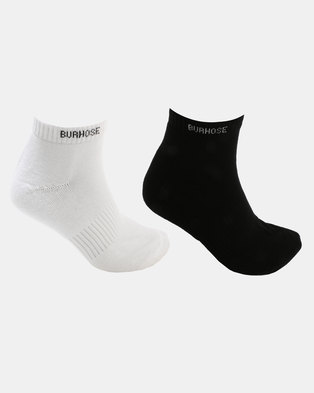 f8a6ee3171a Cameo Half Terry 2 Pack Socks Black White