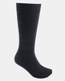 Cameo Plain Socks Navy