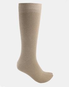 Cameo Plain Socks Neutral