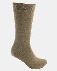 Cameo Plain Socks Taupe