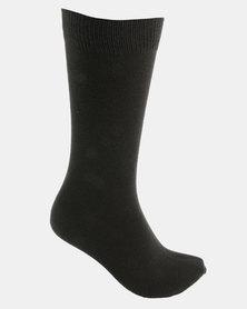 Cameo Large Dot Socks Charcoal