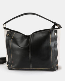Two Slouch Handbag Black