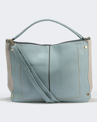 Two Slouch Handbag Blue