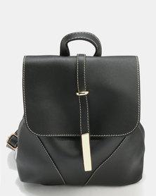 Utopia Drawstring Backpack Black