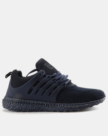 Pierre Cardin Sport Inspired Knit Vamp Trainers Navy