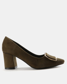 Staccato Microfibre Court Shoes Green