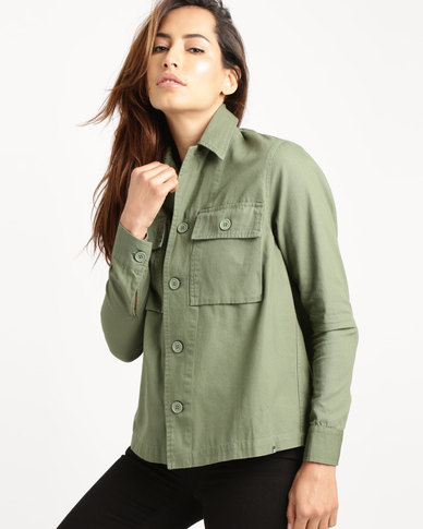 Billabong Coastal Dawn Shirt Jacket Green