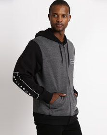 Billabong United Zip Through Grey