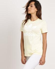 adidas Ladies Adicolour Classic Tee Yellow
