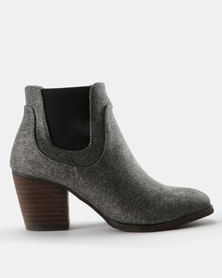 G Couture Pistol Gusset Boots Light Grey