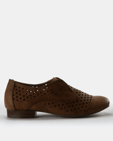 G Couture Perforated Shoes Brown