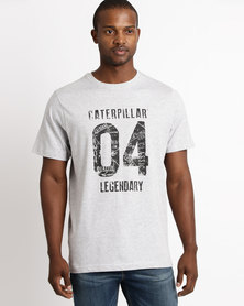Caterpillar Legendary 1904 Tee Grey Melange
