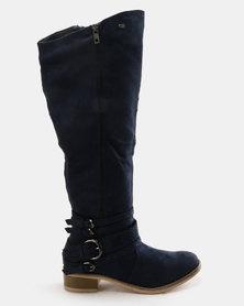Miss Black Clara Boots Navy