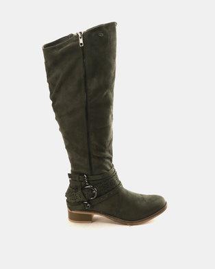 Miss Black Clara Boots Olive