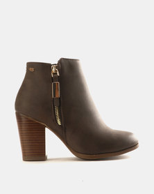 Miss Black Ahlam Ankle Boots Choc