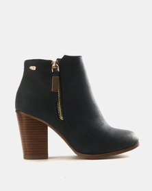 Miss Black Ahlam Ankle Boots Navy