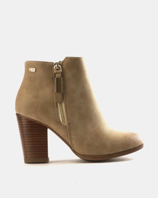 Miss Black Ahlam Ankle Boots Taupe