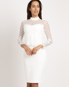 cath.nic By Queenspark Victoriana Lace Woven Dress White