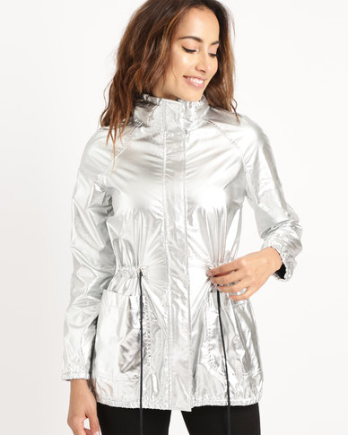 Yarra Trail Parka Jacket Silver