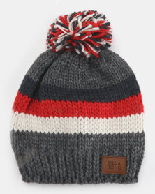 Boys Mayfield Pompom Beanie Dark Frey Heather