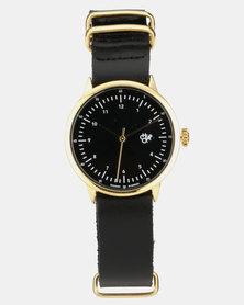 Harold Mini Watch Gold-Tone & Black