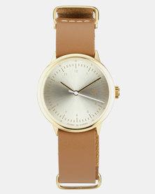 Harold Mini Watch Gold-Tone & Brown