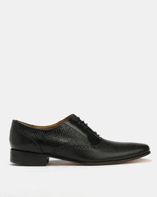 Crockett & Jones Formal Leather Combo Shoes Black