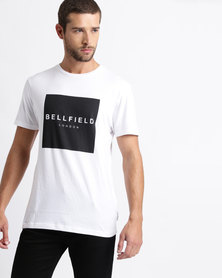 Bellfield Cotton Knitted T-Shirt White