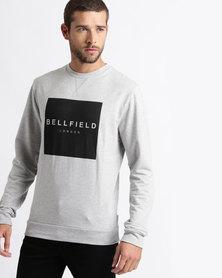 Bellfield Printed Sweatshirt Grey