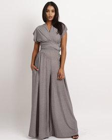 Blue Mango Infinity Wide-Leg Jumpsuit Grey