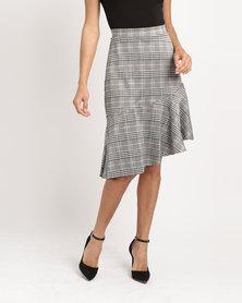 Utopia Check Asymmetrical Skirt Multi