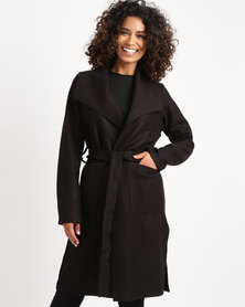 Utopia Melton Coat Black