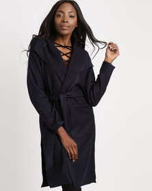 Utopia Melton Coat Navy Blue