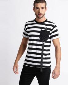 Utopia Stripe Tee Black/White