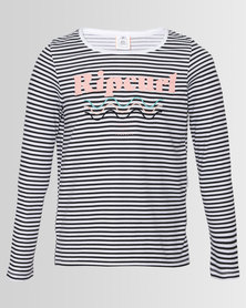 Rip Curl Girls New Wave Long Sleeve Tee White