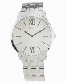 Guess Estate Bracelet Sunray Dial Watch White/Silver-Tone