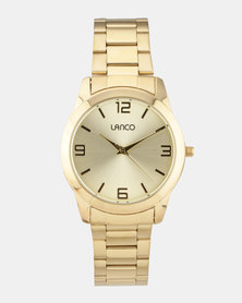 Lanco Gold Strap Watch